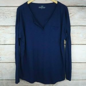 Vineyard Vines Open Collar Long Sleeve Shirt